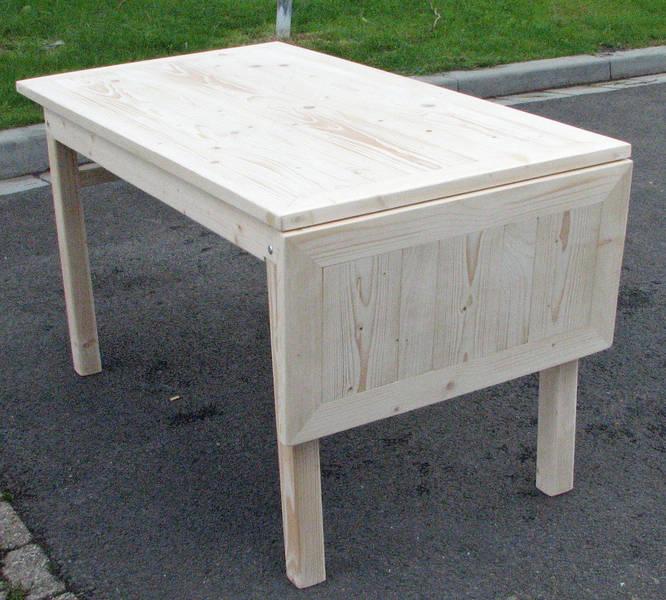 mooie lichte tafelplaat van eikenhout met schuine tegenlopende planken ...
